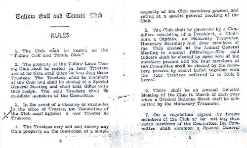 Historical Club Rules